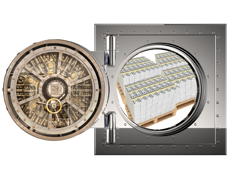 bank money vault